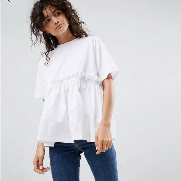 1cb74a5f ASOS Tops   Peplum Shirt With Pockets   Poshmark
